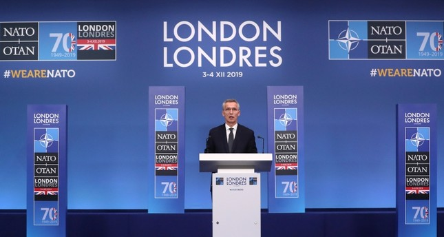NATO Secretary General Jens Stoltenberg holds a news conference at the end of the NATO summit in Watford, Britain, Dec. 4, 2019 (Reuters Photo)