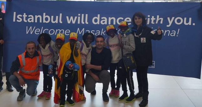 African dance group of orphans arrives in Turkey