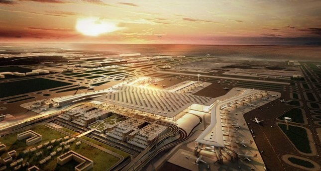 The construction of the terminal building of the Istanbul New Airport is by 95 percent complete.