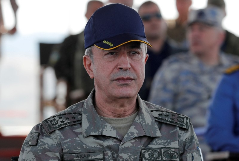 Turkey's Chief of the General Staff Hulusi Akar is seen during the EFES-2018 Military Exercise near the Aegean port city of Izmir, Turkey May 10, 2018. (Reuters Photo)