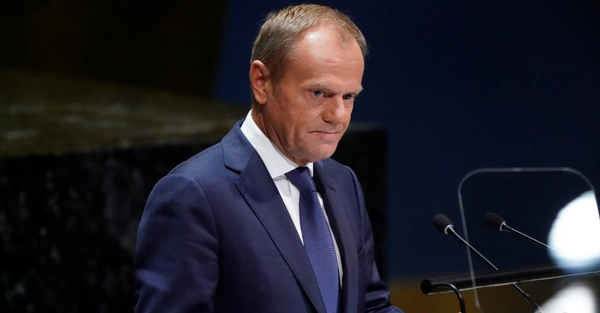 Donald Tusk, President of the European Council addresses the 74th session of the United Nations General Assembly at U.N. headquarters in New York City, New York, U.S., September 26, 2019. (Reuters Photo)