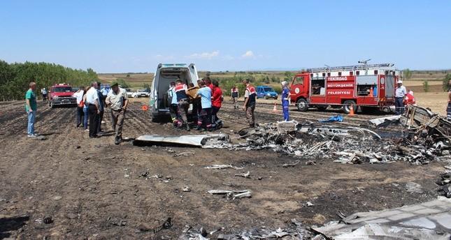مصرع شخصين في سقوط طائرة تدريب تركية غربي البلاد
