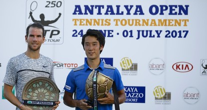 pYuichi Sugita was a man on a mission on Saturday at the Antalya Open, downing Adrian Mannarino 6-1, 7-6(4) for his first ATP World Tour title. Sugita joined an exclusive club in lifting his maiden...