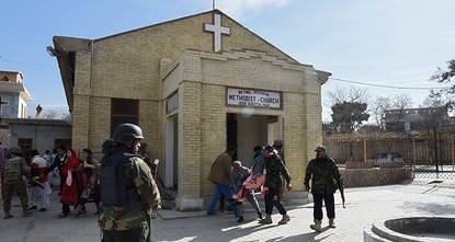 pTwo suicide bombers attacked a church in the Pakistani city of Quetta on Sunday, killing eight people and wounding 42 others, officials said./p  pThe Daesh terrorist group claimed the attack...