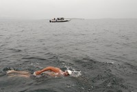 Turkish man becomes first Muslim to swim across the North Channel