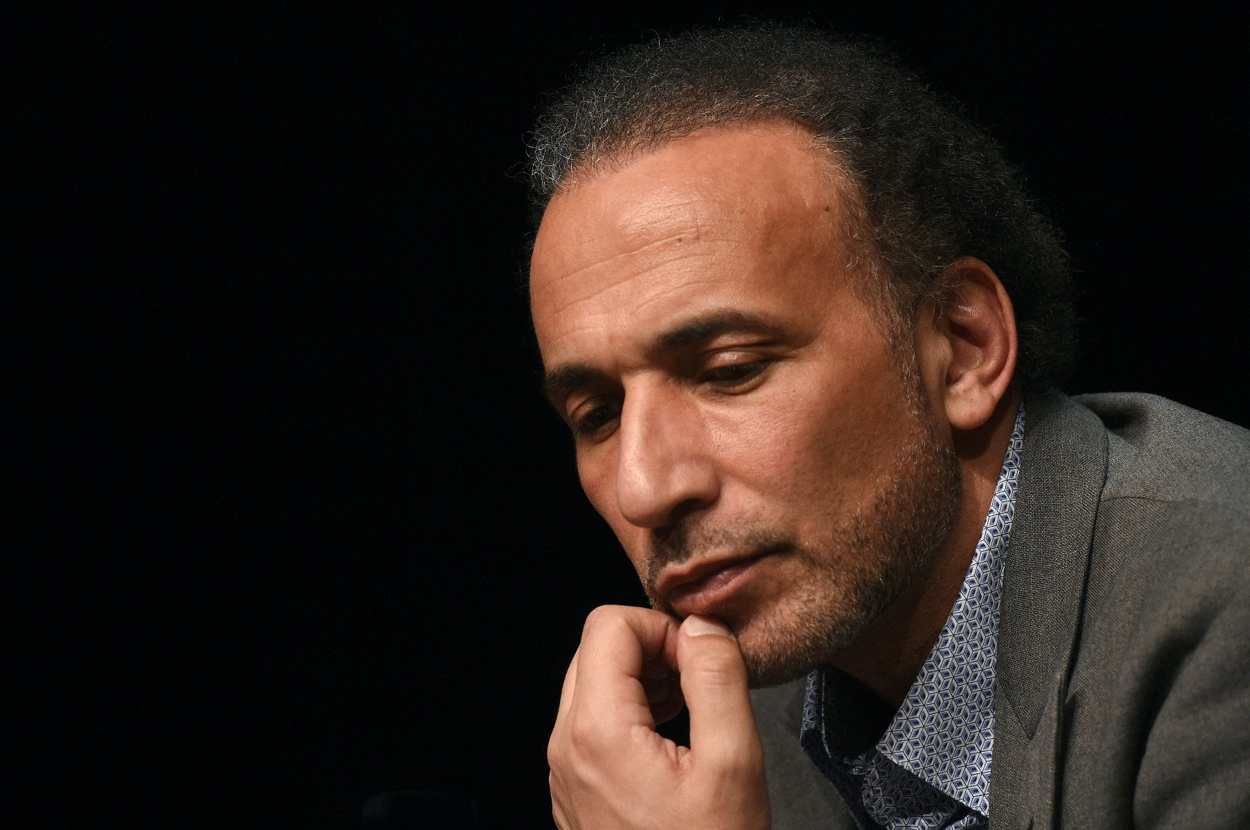 Professor Tariq Ramadan takes part in a conference on the theme ,Live together, in Bordeaux, March 26, 2016.