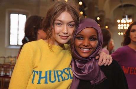 Gigi Hadid (L) and Halima Aden (R). (FILE Photo)