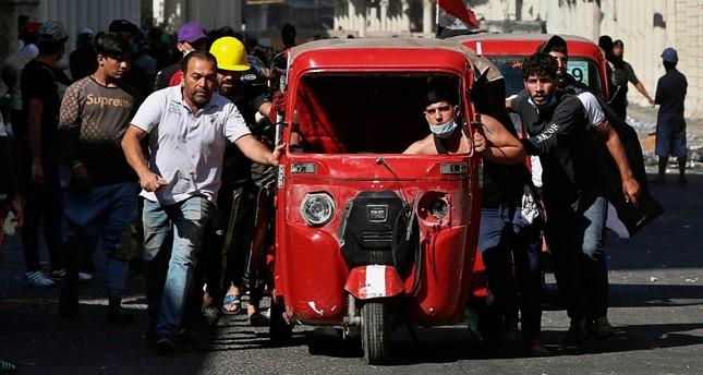 من الاحتجاجات في العراق (AP)