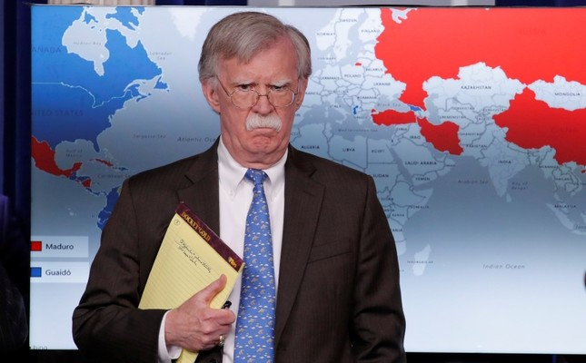 U.S. National Security Adviser John Bolton arrives to address reporters as the Trump administration announces economic sanctions against Venezuela during a press briefing at the White House in Washington, U.S., January 28, 2019. (Reuters Photo)
