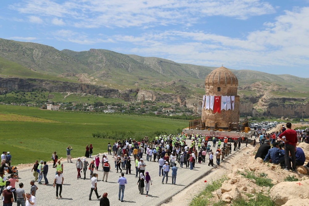 Historic tomb of Turkic leader moved to protect from dam flood