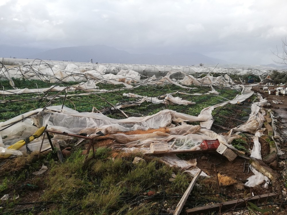 A tornado devastated greenhouses in Antalyau2019s Kumluca district where agriculture heavily relies on greenhouses.