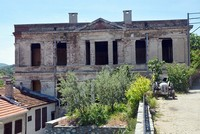 Historical stone school undergoes restoration in western Turkey