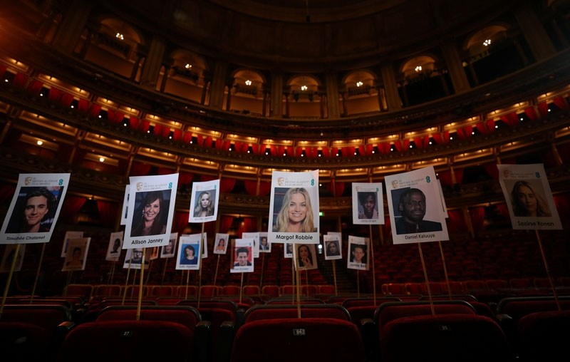 The seating plan for guests ahead of the British Academy of Film and Television Awards (BAFTA) is seen during a photo call at London's Royal Albert Hall in London, Britain (Reuters Photo)