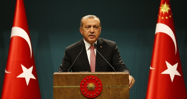 President Tayyip Erdogan speaks during a news conference following the National Security Council and cabinet meetings at the Presidential Palace in Ankara, Turkey, July 20, 2016. REUTERS Photo