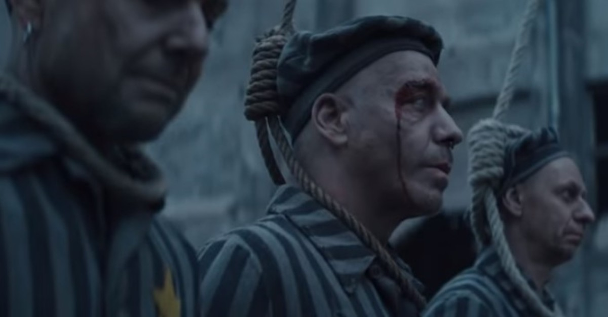 Screengrab from the video published on Rammstein's official Youtube channel.