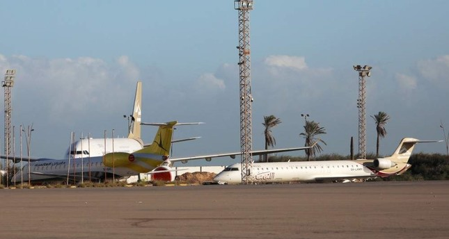 Planes are seen after the reopening of Mitiga Airport in Tripoli, Libya,  Dec. 12. Reuters File Photo