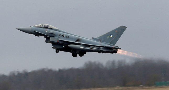 This file photo shows a German Air Force Eurofighter Typhoon takes-off during the air policing scramble in Amari air base, Estonia, March 2, 2017. Reuters Photo