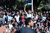 16 reported dead in protests against Ethiopian PM