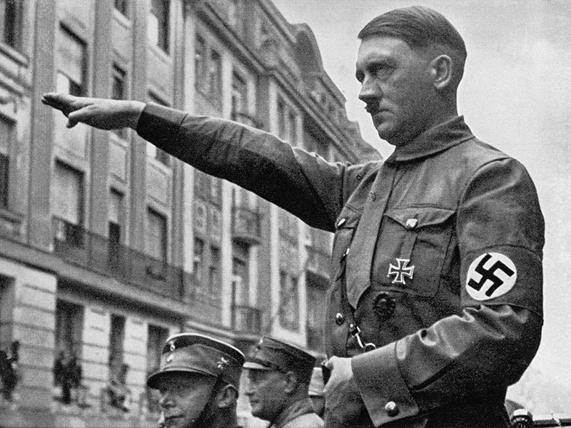 Adolf Hitler in Munich in the spring of 1932. (Getty Images)
