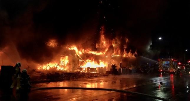46 قتيلاً في حريق مبنى طابقي في جنوب تايوان