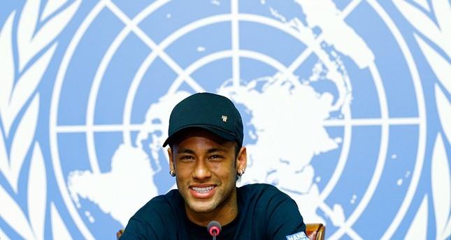 Neymar Jr speaks during a press conference during his presentation as new goodwill ambassador of Handicap International, in Geneva, Switzerland, Aug. 15, 2017. (REUTERS Photo)