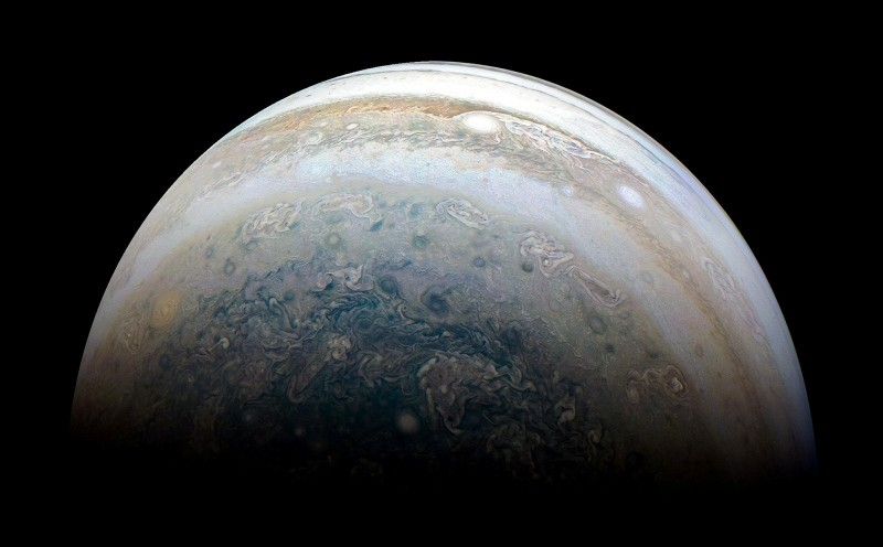 NASA's Juno spacecraft captures Jupiter's southern hemisphere, as the spacecraft performed its 13th close flyby of Jupiter on May 23, 2018. (Reuters Photo)