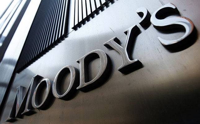 A Moody's sign on the 7 World Trade Center tower is photographed in New York Aug. 2, 2011. (Reuters Photo)