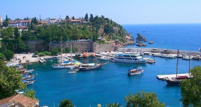 Turkish Mediterranean and Aegean towns are popular with tourists from all around the world, including Antalya, pictured here. Archive Photo