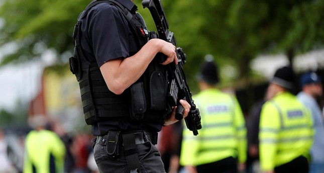 Armed policemen are seen outside the Lancashire County Cricket Club, Emirates Old Trafford, in Manchester, Britain May 27, 2017. (Reuters Photo)