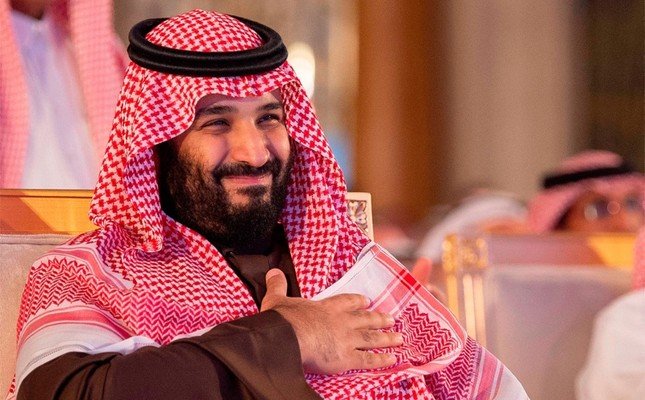 A handout picture provided by the Saudi Press Agency (SPA) on Jan. 28, 2019 shows Crown Prince Mohammed bin Salman attending a ceremony at a hotel in Riyadh. (AFP PHOTO / HO / SPA)