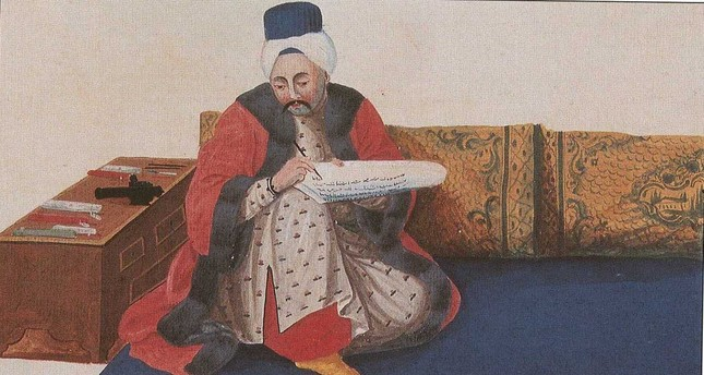 """A painting of an Ottoman """"katip"""" (senior clerk) who was one of the officials conducted censuses in the Ottoman Empire."""