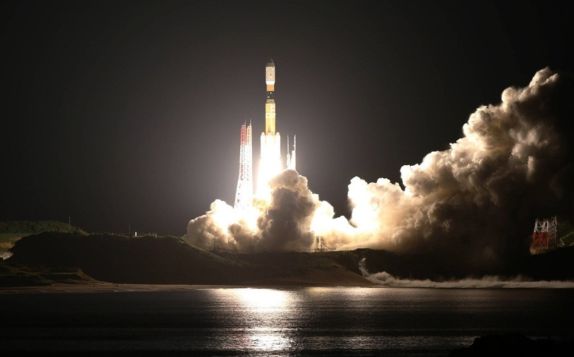 The space-elevator test equipment will be launched on a Japanese H-2B rocket. (AFP Photo)