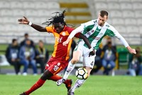 Galatasaray clenched first place in Turkish Spor Toto Super League after winning 2-0 against Atiker Konyaspor on Saturday in an away match. The Lions raised their points total to 22 in the eighth...