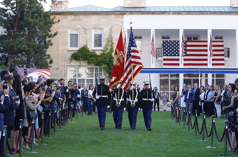 U.S. Embassy in Ankara hosted a reception on Monday, July 2, 2018, to celebrate the country's independence day. (AA Photo)