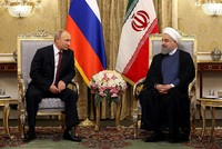 Strikes on Assad regime damage chances of political resolution in Syria, Putin tells Iran's Rouhani
