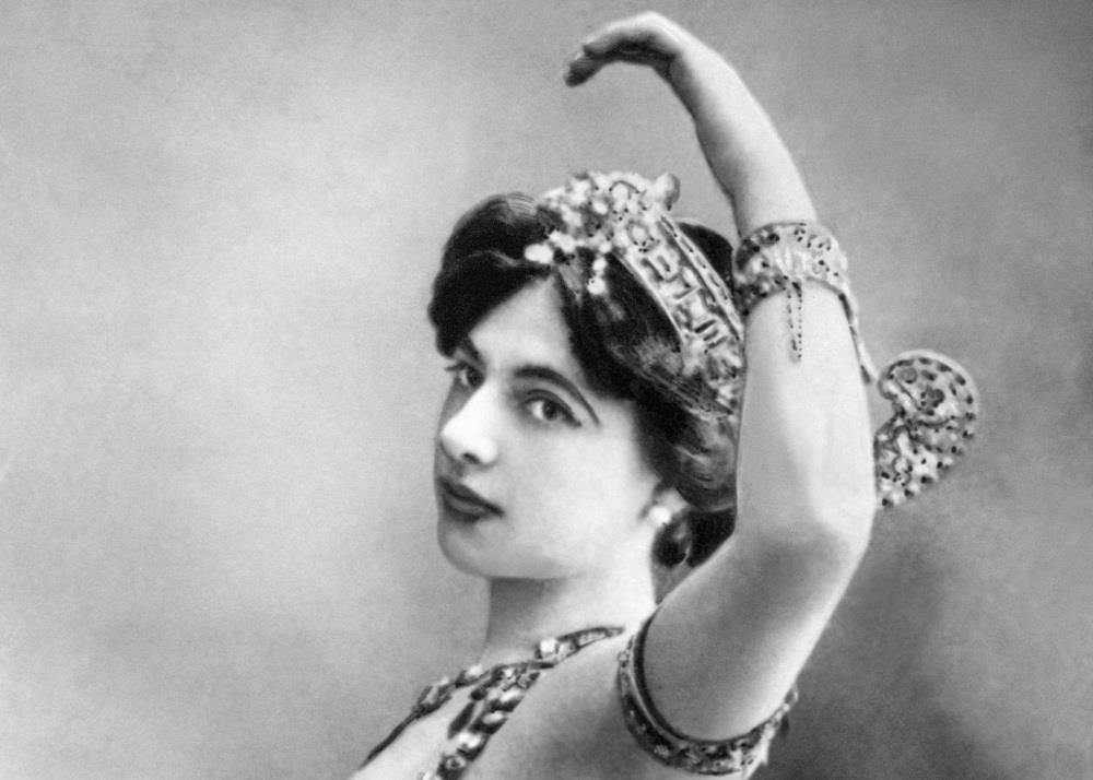 Exotic dancer and suspected double agent Mata Hari was executed in Paris. Her name endures today as that of the ultimate seductive spy.