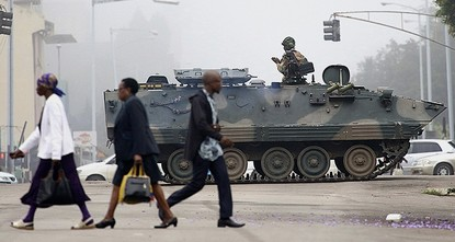 pZimbabwe's President Robert Mugabe and his family have been detained following military intervention in capital Harare, which an army spokesman and the ruling party insisted Wednesday was not a...
