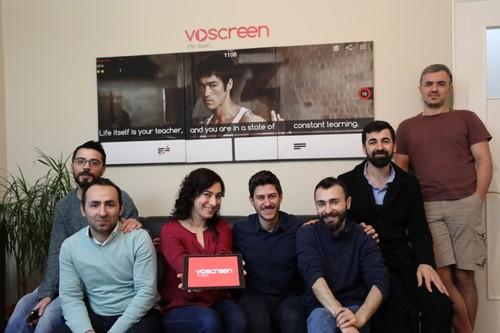 Voscreen team at their office in Şişli, Istanbul.
