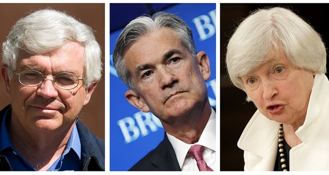 A combination photo of three U.S. Federal Reserve Chair contenders: (L to R) John Taylor, Jerome Powell and present chair Janet Yellen in Washington, D.C. (REUTERS Photo)