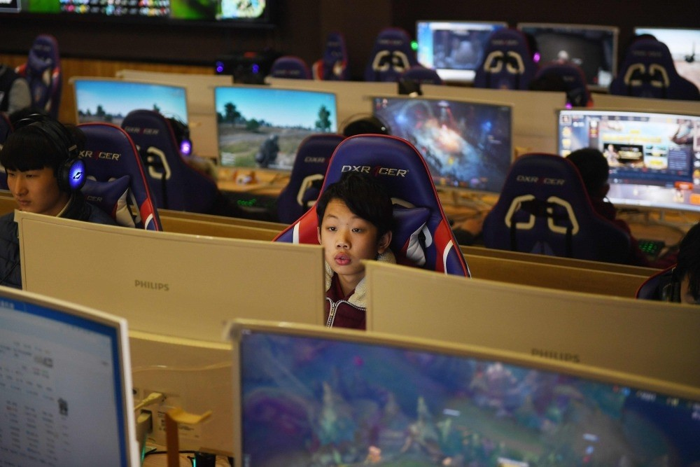 A student uses a computer in an eSports class at the Lanxiang technical school in Jinan, China's eastern Shandong province.