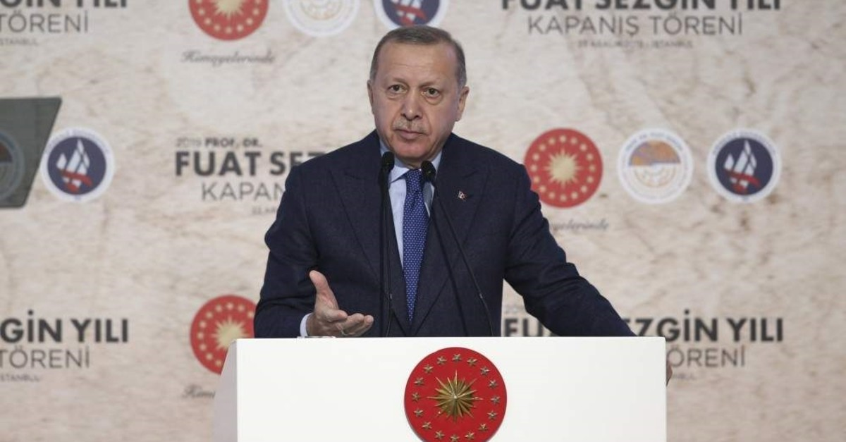 President Recep Tayyip Erdo?an speaks at the closing ceremony on Dec. 23. (AA Photo)