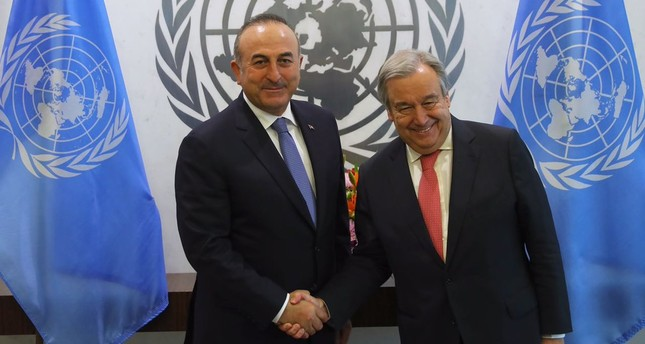 FM Çavuşoğlu holds phone call with UN Secretary-General Guterres on Yemen crisis, climate change