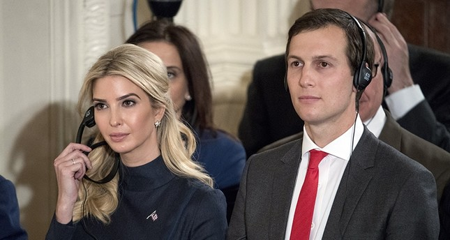 In this March 17, 2017, file photo, Ivanka Trump, the daughter of President Donald Trump, and her husband Jared Kushner, senior adviser to President Donald Trump, attend a news conference with the president (AP Photo)