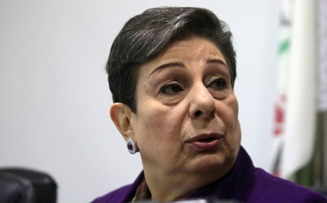 In this file photo taken on February 24, 2015 Palestine Liberation Organisation PLO executive committee member Hanan Ashrawi speaks during a press conference in Ramallah. AFP Photo