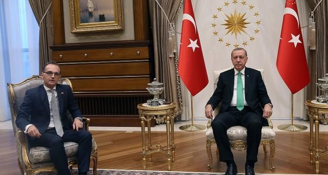 أردوغان يلتقي وزير الخارجية الألماني في أنقرة