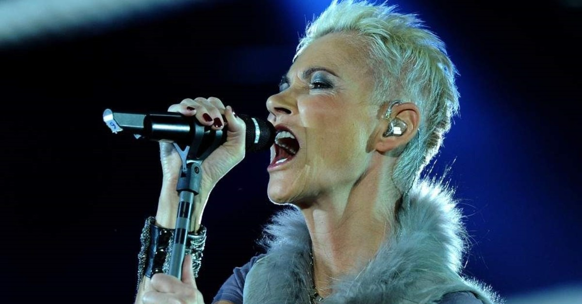 Photo taken on March 19, 2011, shows Swedish singer Marie Fredriksson of the pop group Roxette performing in Cologne, Germany. (AFP Photo)