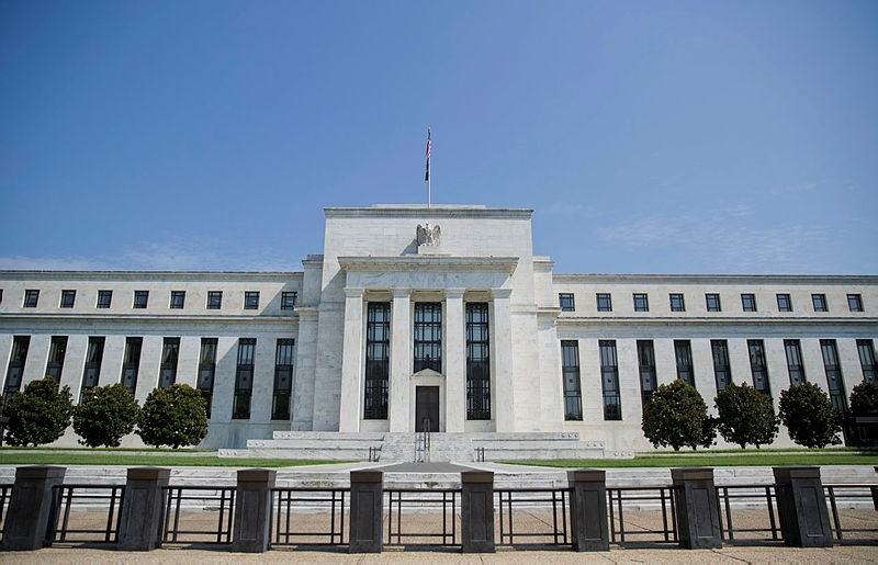 This Wednesday, Aug. 2, 2017, file photo shows the Federal Reserve Building on Constitution Avenue in Washington. (AP Photo)