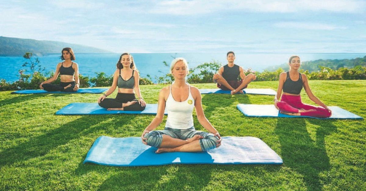Attendees of the Vegan Nutrition Camp will perform evening yoga for two days.