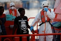 Spain's maritime rescue service says it has picked up 339 migrants from seven boats trying to cross the Mediterranean Sea from Morocco.  The rescue service says the migrants were taken by three...