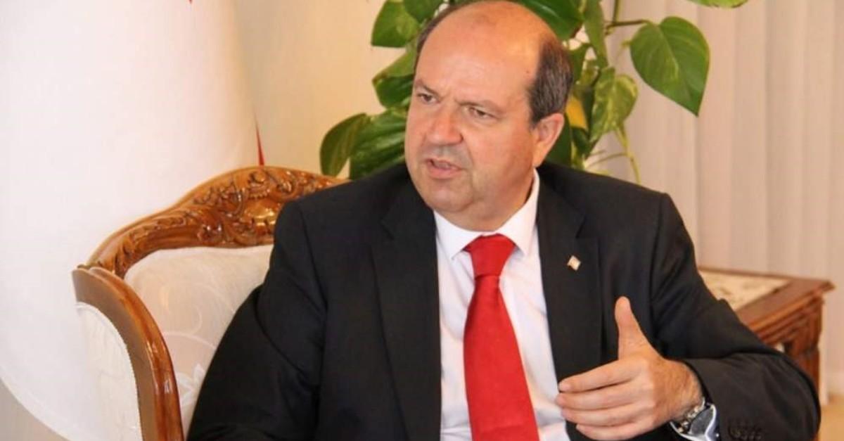 Turkish Cypriot Prime Minister Ersin Tatar. (AA)
